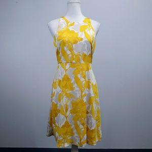 Banana Republic Yellow Floral Sleeveless Dress